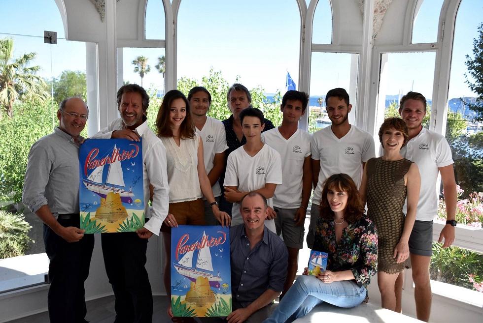 L'équipe du film Parenthèse au Lavandou